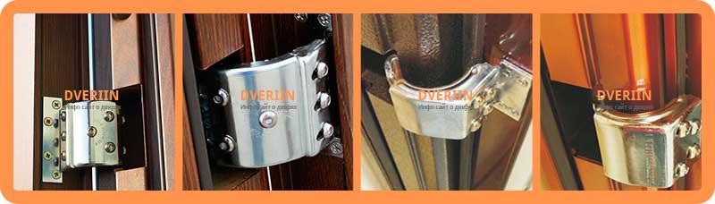 Скрытые открывающие на 180° для лёгких дверей